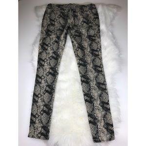 CAbi Jeans - CAbi #985 Diamondback Snakeskin Skinny Jeans sz 4